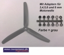 3-Blatt Propeller GWS 8x4 linksdrehend