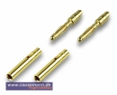 Goldstecker, 2mm, 2 Paare