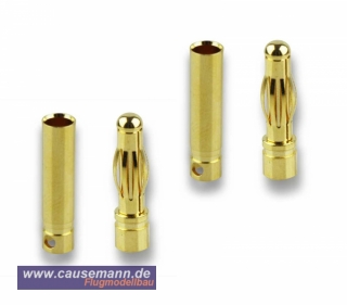 Goldstecker, 4mm, 2 Paare