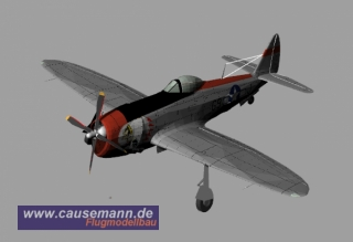 P-47 Thunderbold Full-EPP 1000mm Spannweite