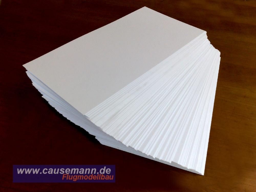 Grundpreis 0,80 € //m. gefräst 0,5 x 1,4 mm Polystyrol-Streifen 15 Stk. weiß