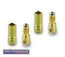 Goldstecker, 3.5mm, 2 Paare ( Sonderpreis)