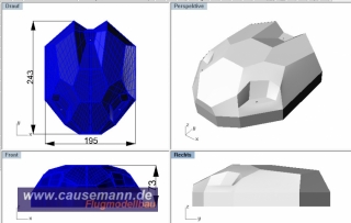 SpaceShip Maxi Dome Cover Haube Quadrokopter Hexakopter Multikopter  PET 0,8mm, klar
